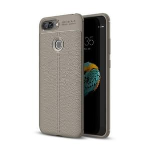 For Lenovo S5 Litchi Texture Soft TPU Protective Back Cover Case (Grey)