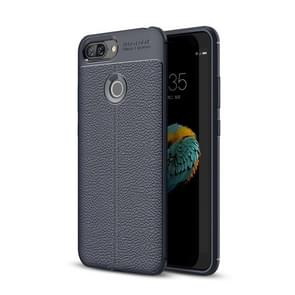 For Lenovo S5 Litchi Texture Soft TPU Protective Back Cover Case (Navy Blue)