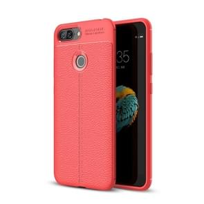 For Lenovo S5 Litchi Texture Soft TPU Protective Back Cover Case (Red)