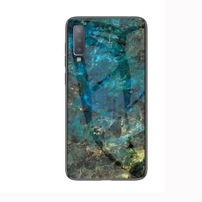 Marble Glass Protective Case for Lenovo A750(Emerald)