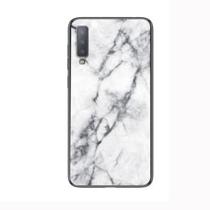 Marble Glass Protective Case for Lenovo A750(White)
