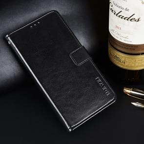 idewei Crazy Horse Texture Horizontal Flip Leather Case for Lenovo A5, with Card Slot / Holder / Wallet (Black)