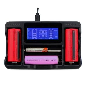 YS-4 Universal 18650 26650 Smart LCD Four Battery Charger with Micro USB Output for 18490/18350/17670/17500/16340 RCR123/14500/10440/A/AA/AAA