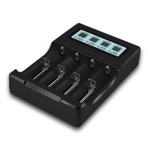 Micro USB 4-sleuf batterijlader voor 3.7 V lithium-ion batterij  met LCD-scherm