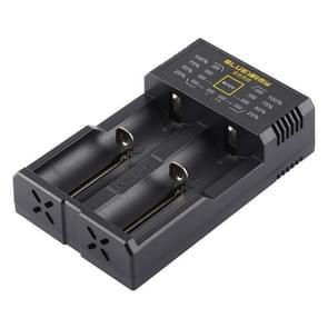 N2 PLUS Micro USB Smart Battery Charger met indicatielampje voor 26650  18650 18500  14500  16340(RCR123) IMR / Li-on batterij of AA  AAA  AAAA  C Ni-MH / Ni-Cd accu