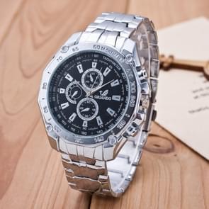 3 Pack Men'S Business Strip Watch Quartz Watch (Colour: Black)