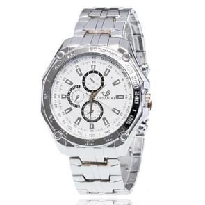 3 Pack Men'S Business Strip Watch Quartz Watch (Colour: White)