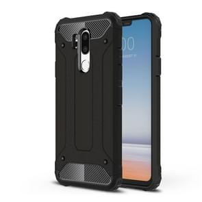 For LG G7 ThinQ Full-body Rugged TPU + PC Combination Back Cover Case (Black)
