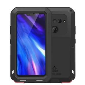 LOVE MEI Powerful Dustproof Shockproof Splashproof Silicone+Metal Combination Case for LG V40(Black)