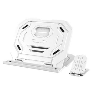T3 Multi-function Hollow Design Cooling Bracket with 10-Level Adjustable Angle for Notebook,  MacBook, iPad, Mobile Phones(White)