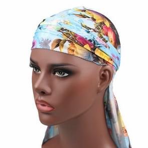 b-2 High Elastic Printing Long-tailed Pirate Hat Headkerchief Chemotherapy Cap