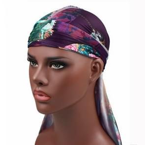b-3 High Elastic Printing Long-tailed Pirate Hat Headkerchief Chemotherapy Cap