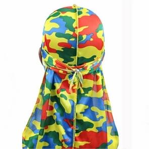 w-1 Camouflage Printing Long-tailed Pirate Hat Turban Cap