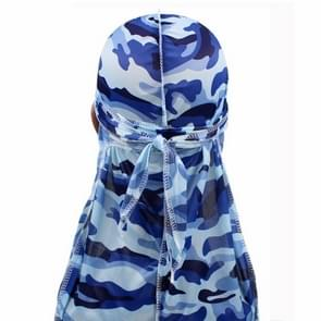 w-3 Camouflage Printing Long-tailed Pirate Hat Turban Cap