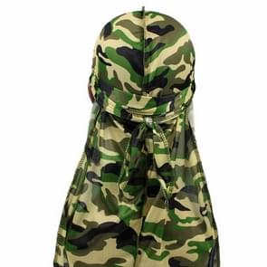 w-5 Camouflage Printing Long-tailed Pirate Hat Turban Cap