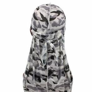 w-4 Camouflage Printing Long-tailed Pirate Hat Turban Cap
