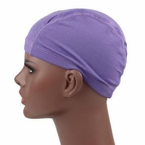 Hip hop Dome Cap pruik elastische Cap (paars)