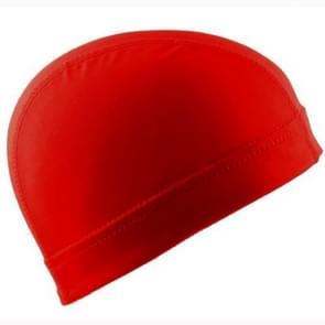Hip hop Dome Cap pruik elastische dop (rood)