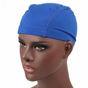 Hip hop Dome Cap pruik elastische dop (saffier blauw)