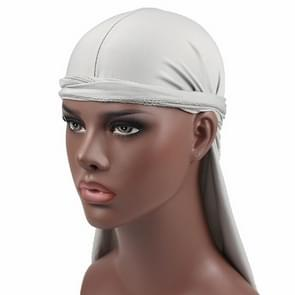 Male Street Basketball Headscarf Hip Hop Elastic Long-tailed Hat(Grey)