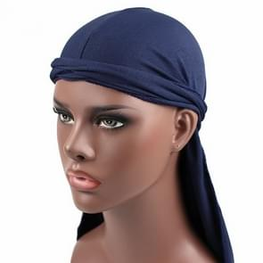 Male Street Basketball Headscarf Hip Hop Elastic Long-tailed Hat(Navy Blue)