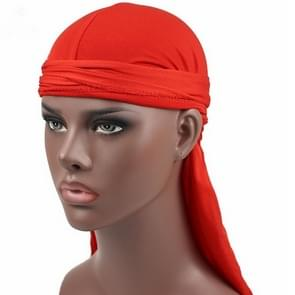 Male Street Basketball Headscarf Hip Hop Elastic Long-tailed Hat(Red)
