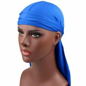 Male Street Basketball Headscarf Hip Hop Elastic Long-tailed Hat(Sapphire Blue)