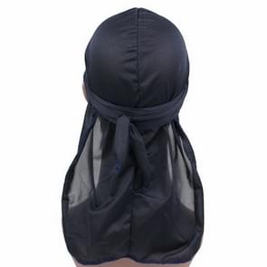 Male Street Basketball Headscarf Hip Hop Elastic Long-tailed Hat (Navy Blue)