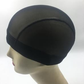 Pruik Cap Elastische mesh Dome Cap (zwart)