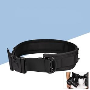 Multifunctional Wide Outdoor Casual Photography Mountaineering Belt (Black)