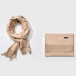 Herfst- en winterseizoen klassieke effen kleur imitatie kasjmier sjaal  grootte: 60 * 200cm (Dark Khaki)