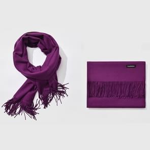 Herfst- en winterseizoen klassieke effen kleur imitatie kasjmier sjaal  grootte: 60 * 200cm(Purple)
