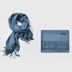 Herfst- en winterseizoen klassieke effen kleur imitatie kasjmier sjaal  grootte: 60 * 200cm (Baby blauw)