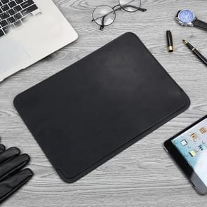TOTUDESIGN Leather Protection Case for MacBook Air/Pro 13 inch (Black)