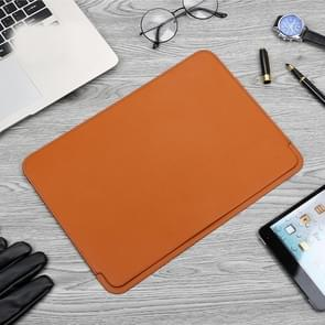 TOTUDESIGN Leather Protection Case for MacBook Air/Pro 13 inch (Brown)