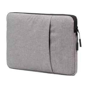 POFOKO A210 13 / 12 inch Portable Business Water-repellent Polyester Suit Fabric Laptop Inner Package Bag(Grey)