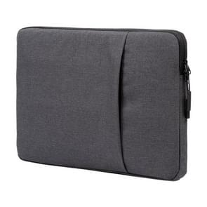POFOKO A210 15.6 inch Portable Business Water-repellent Polyester Suit Fabric Laptop Inner Package Bag(Black)