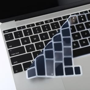 Voor MacBook Pro 16 inch A2141 Dustproof Siliconen Laptop Toetsenbord Beschermende Film (Zwart)