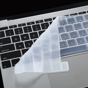 Voor MacBook Pro 16 inch A2141 Dustproof Siliconen Laptop Toetsenbord Beschermende Film (Wit)