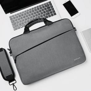 JOYROOM JR-BP562 Elite Series 15 6 inch Draagbare eenvoudige zakelijke laptoptas met afneembare schouderband (donkergrijs)