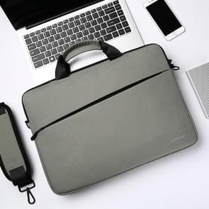 JOYROOM JR-BP562 Elite Series 15 6 inch Draagbare eenvoudige zakelijke laptoptas met afneembare schouderband (lichtgrijs)