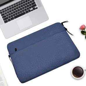 Diamond Pattern Portable Waterproof Sleeve Case Double Zipper Briefcase Laptop Carrying Bag for 11-12 inch Laptops (Dark Blue)