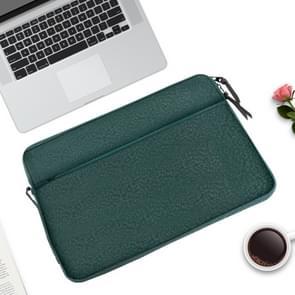 Diamond patroon draagbare waterdichte Sleeve Case dubbele rits aktetas Laptop draagtas voor 11-12 inch laptops (groen)