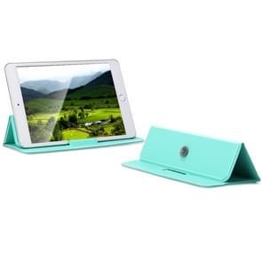 Multi-function Portable Ultrathin Foldable Heat Dissipation Mobile Phone Desktop Holder Laptop Stand (Mint Green)