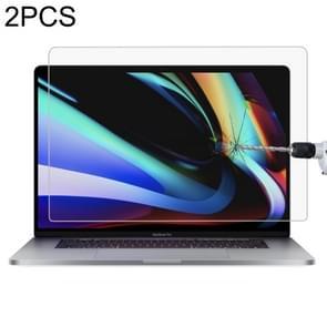 2 stuks voor MacBook Pro 16 inch 9H laptop scherm gehard glas beschermende film