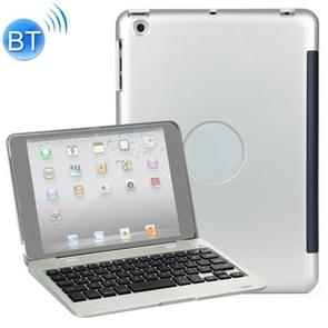 F1 voor iPad mini 3 / 2 / 1 Laptop versie Plastic Bluetooth Keyboard Protective Cover (Zilver)