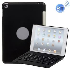 F1+ For iPad mini 4 Laptop Version Plastic Bluetooth Keyboard Protective Cover (Black)