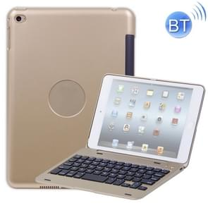 F1+ voor iPad mini 5 / 4 Laptop versie Plastic Bluetooth Keyboard Protective Cover (Goud)