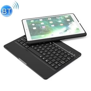 F360 For iPad Pro 10.5 inch & iPad Air 10.5 inch Rotatable Colorful Backlight Laptop Version Aluminum Alloy Bluetooth Keyboard Protective Cover (Black)