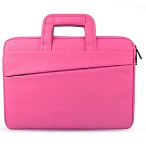Universele 13.3 inch Laptoptas met Oxford stof en handvat voor MacBook  Samsung  Lenovo  Sony  Dell  Chuwi  Asus  HP (hard roze)